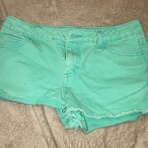target cherokee teal mint green shorts